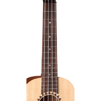 Luna Ukulele Bass Baritone Tattoo With Preamp