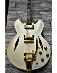 Used Gibson ES-335 White Diamond w/Bigsby - Custom Shop