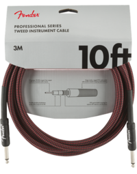 Fender Professional Instrument Cable, 10', Red Tweed