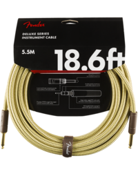 Fender Deluxe Instrument Cable, Straight/Straight, 18.6', Tweed
