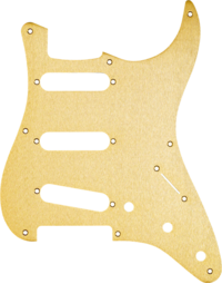 FENDER PICKGUARD - 50s STRAT, 8 HOLE, Gold Anodized