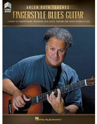 ARLEN ROTH TEACHES FINGERSTYLE BLUES GUITAR BK/OLV