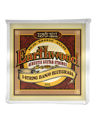 Ernie Ball Earthwood 5-String Banjo Bluegrass Loop End 80/20 Bronze Acoustic Strings
