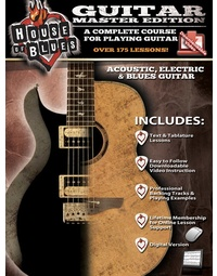 HOUSE OF BLUES GUITAR MASTER EDITION BK/OLV