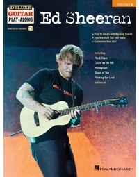ED SHEERAN DELUXE GUITAR PLAYALONG V9 BK/OLA