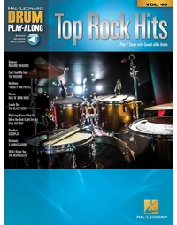 TOP ROCK HITS DRUM PLAYALONG V49 BK/OLA