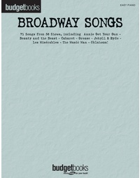 BUDGET BOOKS BROADWAY SONGS EASY PIANO