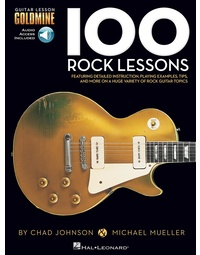 100 ROCK GUITAR LESSONS GOLDMINE BK/OLA