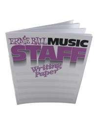 Ernie Ball Music Staff Book