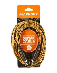 Armour GW20G Guitar 20 Foot Woven Gold Rope