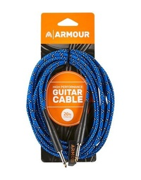 Armour GW20P Guitar 20 Foot Woven Blue Python