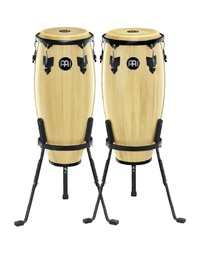"Meinl HC555MA Headliner 10"" & 11"" Wood Conga Set with Basket Stands in Maple Finish"