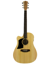 Cole Clark FL1EC Fat Lady 1 Left-Handed Acoustic Guitar Bunya/Maple