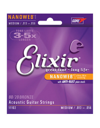 Elixir 11102 Nanoweb 80/20 Medium 13-56