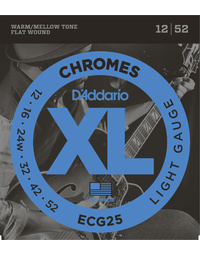 D'ADDARIO ECG25 CHROMES LITE 12-52 ELECTRIC GUITAR STRINGS