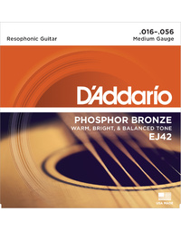 D'ADDARIO EJ42 RESOPHONIC PHOSPHOR BRONZE STRINGS