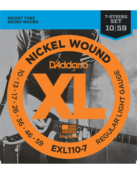 D'ADDARIO EXL110-7 REG LITE 7STR ELECTRIC GUITAR STRINGS