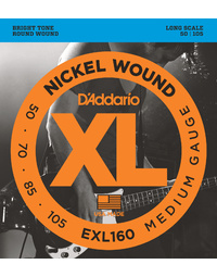 D'ADDARIO EXL160 50-105 LONG SCALE BASS GUITAR STRINGS