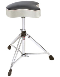 Gibraltar 6600 Series Double Braced Motostyle Drum Throne in White Sparkle Finish