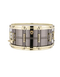 "LUDWIG LB417BT BLACK BEAUTY SNARE DRUM BRASS - 14x6.5"" Smooth Shell - Brass Tube Lugs"