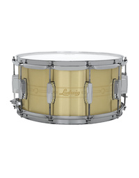 "LUDWIG LBR0714 HEIRLOOM ETCHED BRASS SNARE DRUM - 14"" x 7"""