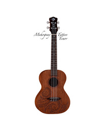 Luna Ukulele Tattoo Tenor w/ Gig Bag