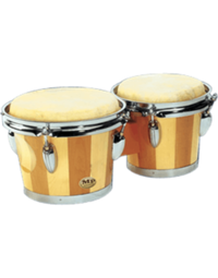 "MANO BONGOS 6 1/2"" & 7 1/2"" TWO TONE WOOD FINISH"