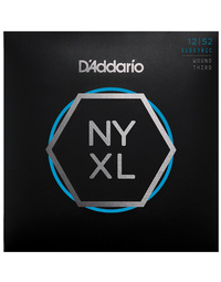 D'ADDARIO NYXL LITE WOUND 3RD 12-52 ELECTRIC GUITAR STRINGS