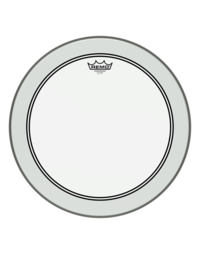 REMO POWERSTROKE 3 CLEAR BASS DRUM HEAD WITH DOT