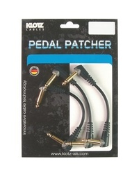 KLOTZ 15CM 3 PACK PATCH CABLES R/ANGLE