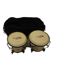 Percussion Plus Wood Bongos Natural w/ Bag