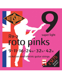 Rotosound R92 Roto Pink Electric String Set 2 Pack 9-42