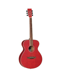 Tanglewood TWDBTFRDLH Discovery Folk Left Handed Red