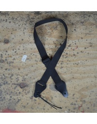 Colonial Leather Webbing Ukulele Strap - Black